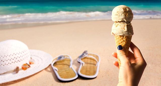 Eis am Strand Mallorca